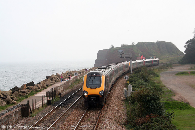 XC's 1525 Plymouth to Manchester Piccadilly is seen at Dawlish Warren on 30th August 2008.