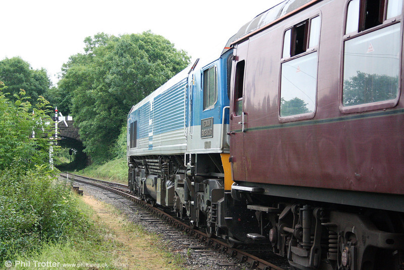 59001 'Yeoman Endeavour' waits to leave Cranmore with 1Z24, 1425 departure for Westbury on 21st June 2008.