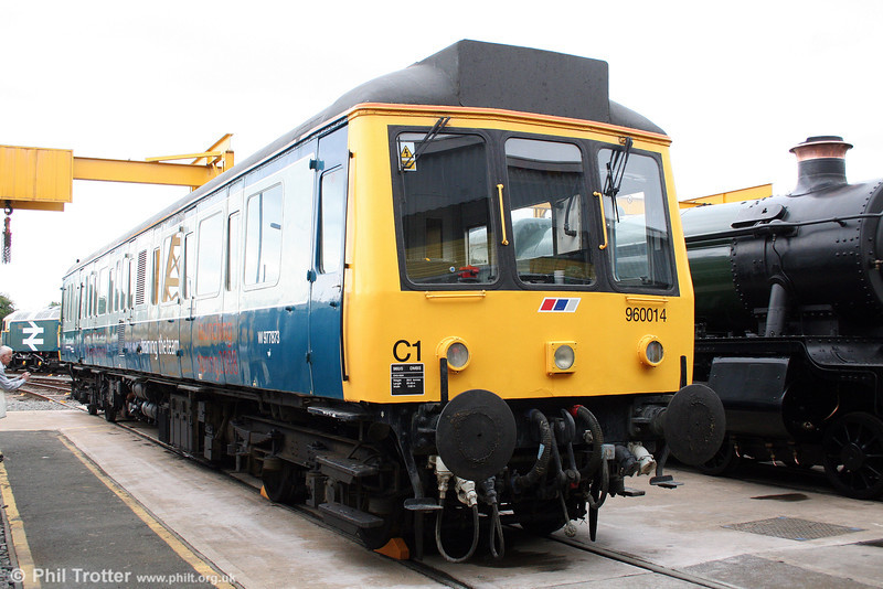 The other end of class 121 no. 55022 at Tyseley on 28th June 2008.