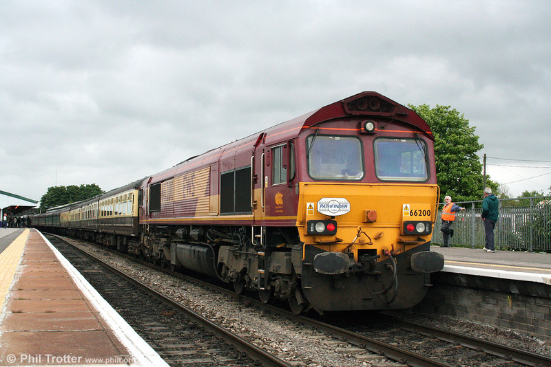 66200 'Railway Heritage Committee' waits to leave Westbury with 1Z18, 1750 to Cranmore on 21st June 2008.