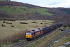 Class 60s are the exception, rather the rule on trains to Onllwyn. Here 60018 - at one time named 'Moel Siabod' - passes Blaenant with 6F81, 1520 Onllwyn to Margam empty MEAs on 22nd November 2008.