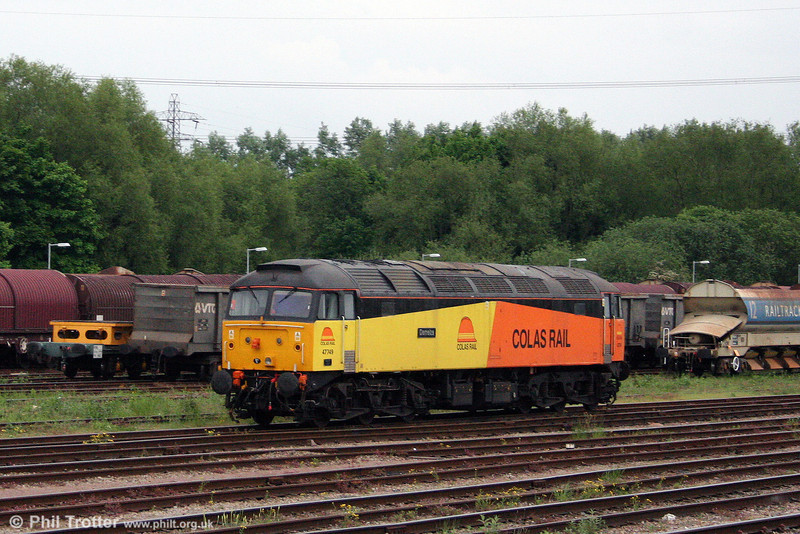 A second view of Colas Rail 47749 'Demelza', at Newport, Alexandra Dock Junction on 17th May 2008.