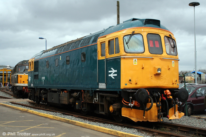 Cotswold's 33202 on display at the Tyseley 100 open day on 28th June 2008.