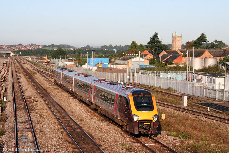 A XC class 220 passes Severn Tunnel Junction with a diverted northbound Cross Country service on 13th September 2008.