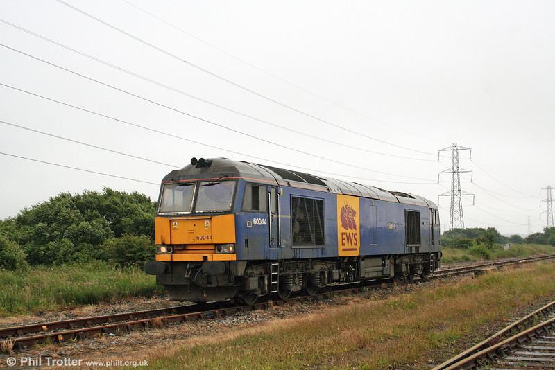 60044 runs light through Margam Knuckle Yard as 0A11, 1754 Margam to Robeston on 27th June 2008.