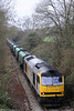 A second view of 60060 'James Watt' near Rhiwderin with 6Z80, 1410 Machen Quarry to Acton Yard on 29th November 2008.