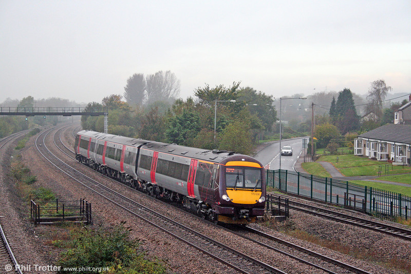 XC 170636 passes Undy forming the 0845 Cardiff Central to Nottingham on 18th October 2008.