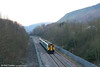 150262 & 150208 approach Ebbw Vale on the newly reopened Ebbw Vale line forming the 1535 from Cardiff Central. 9th February 2008.