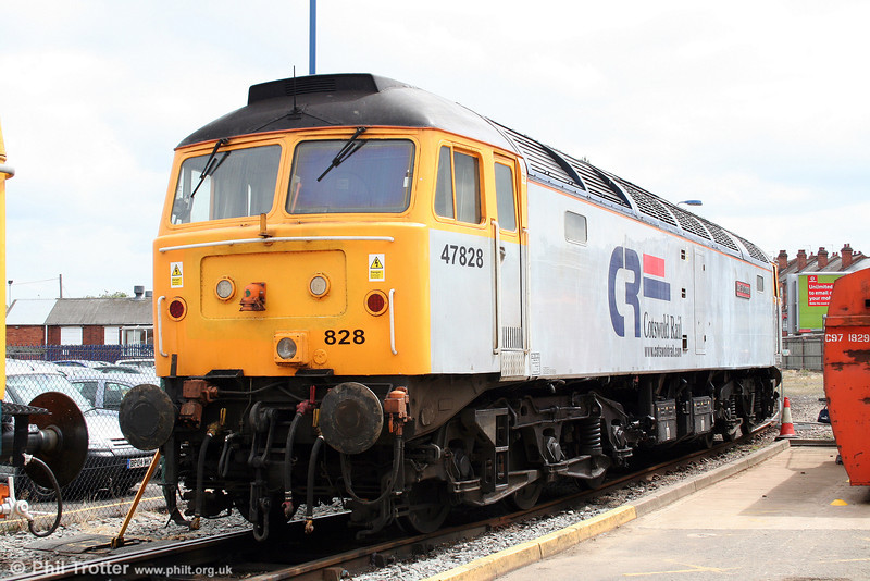 Cotswold's 47828 'Joe Strummer' at Tyseley on 28th June 2008.