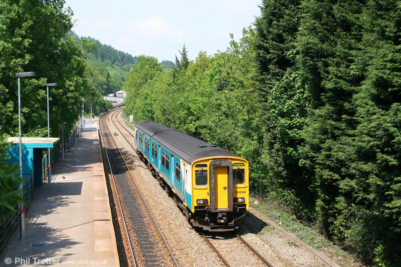 150240 at Llanbradach forming the 1432 Bargoed to Penarth on 24th May 2008.
