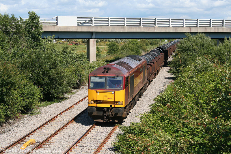 60071 'Ribblehead Viaduct' approaches Trostre with 6B12, 1421 Margam to Trostre on 13th July 2008.