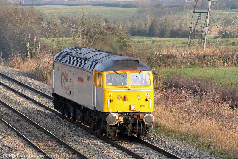 47810 'Captain Sensible' again. This time running light (0Z60) through Duffryn towards Cardiff on 30th December 2008.