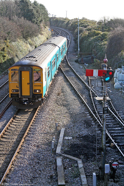 150262 at Aberthaw with the 0938 Merthyr Tydfil to Bridgend on 23rd November 2008.