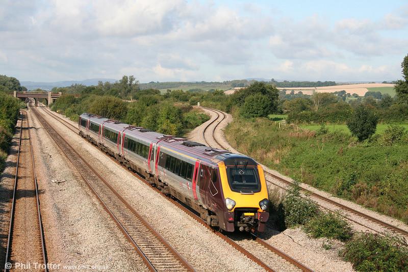 Having called at Newport, 221136 returns past Llandevenny on 13th September 2008.