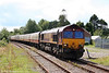 66193 approaches Llandovery with 1Z66, 0738 London Paddington to Llandrindod Wells on 2nd August 2008.