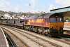66175 heads through Newport with 6C01, 0941 Newport ADJ to Bristol East Depot steel on 15th April 2008.