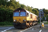 66230 crosses the A48 at Waterton, Bridgend, running as 0B46, 1859 Newport ADJ to Bridgend Ford Sidings on 16th June 2008.