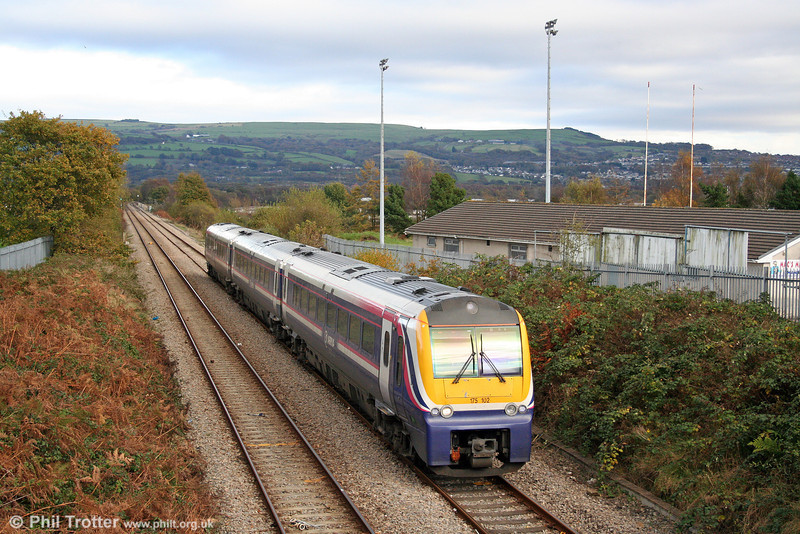 175102 passes Morriston, Swansea District Line with the diverted 1050 Crewe to Carmarthen on 2nd November 2008.
