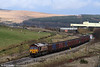 66132 pulls away from Onllwyn Washery with 6F81, 1520 Onllwyn to Margam empty MEAs on 13th December 2008.