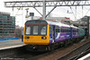 Northern's newly reliveried 142024 leaves Manchester Piccadilly for an undisclosed destination on 17th March 2008.