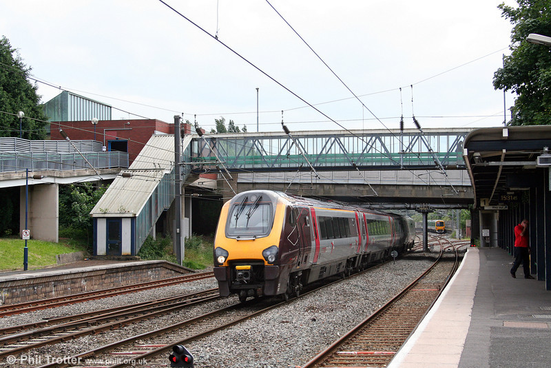 A XC class 220 forming the 1400 Bristol Temple Meads to Edinburgh, passes Longbridge on 28th June 2008.