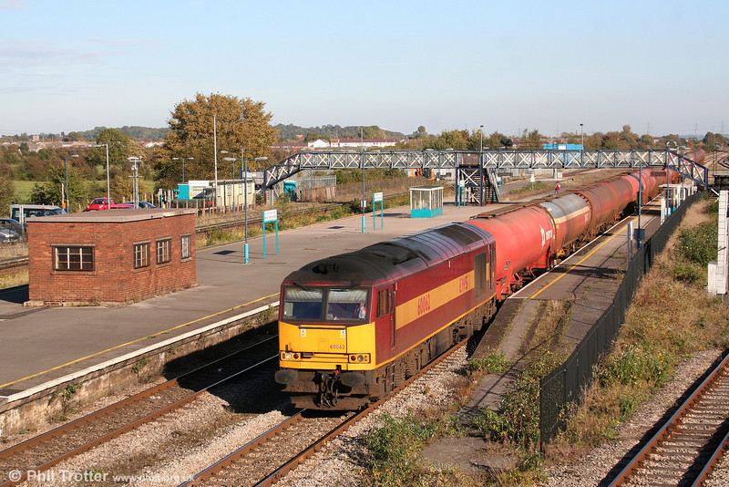 60062 passes a sunny Severn Tunnel Junction with 6B33, 1212 Theale to Margam on 11th October 2008.