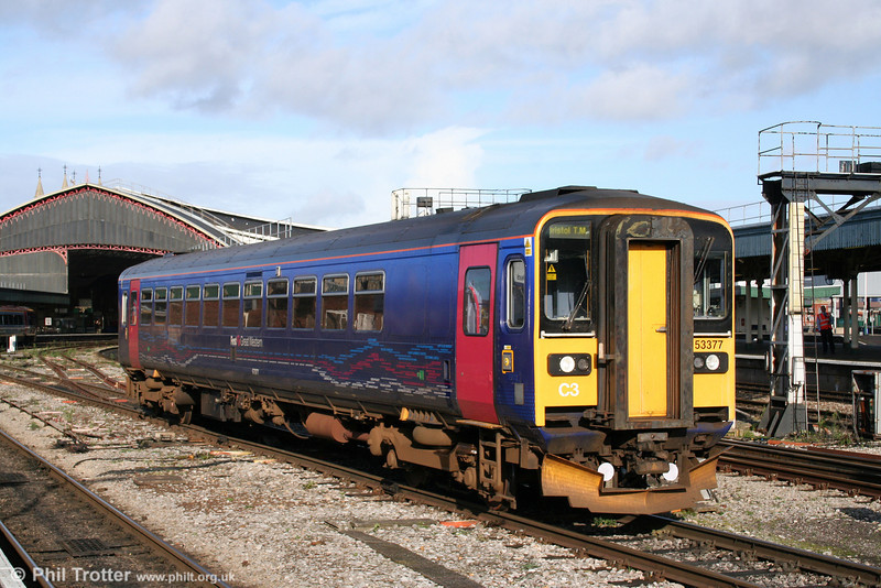 153377 in the autumn sunshine at Bristol Temple Meads on 15th November 2009.