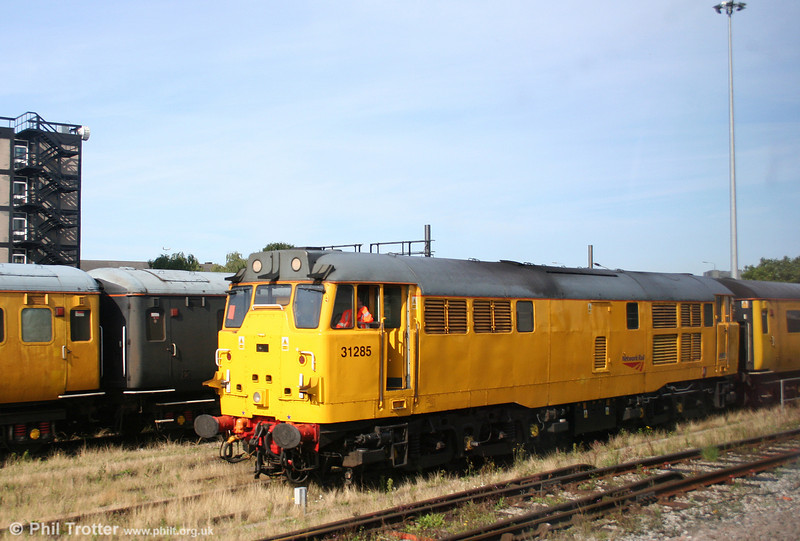 31285 is seen from a passing train at Derby RTC on 6th August 2009.