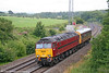 West Coast's 57601 passes Llangewydd with inspection saloon 999506 running as 2Z01, 0936 London Paddington to Swansea on 28th July 2009.