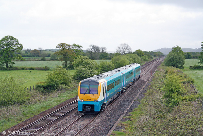 The latest 175 to be repainted by early May 2009 was 175107, seen passing Nantyrhebog forming the 0454 Crewe to Milford Haven on 9th May 2009.
