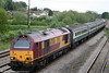 Nearly missed it! 67030 passes Magor with 2U14, 1102 Taunton to Cardiff Central on 8th May 2009.