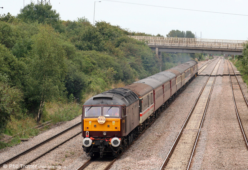 47786 'Roy Castle OBE' brings up the rear of Nenta's 1Z62, 1640 Cardiff Central to Norwich at Llandevenny on 22nd August 2009.