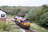 66248 departs from the Garw Loop at Tondu with 6B03, 0909 Trostre to Llanwern on 3rd October 2009.