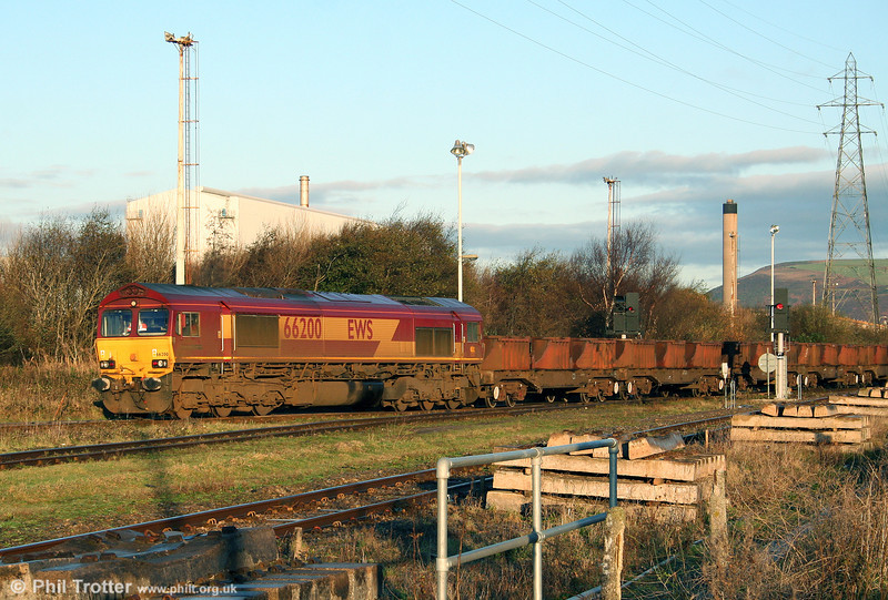 66200 'Railway Heritage Committee' at Margam Knuckle Yard with 6B03, 0909 Trostre to Llanwern on 12th December 2009.