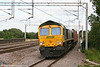 66573 at Tamworth with 4M58, 1028 Southampton to Crewe Basford Hall on 3rd August 2009.