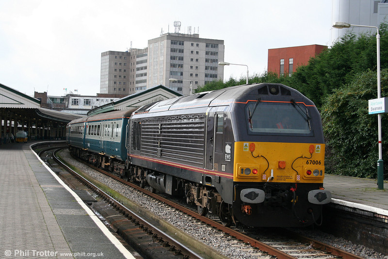 67006 'Royal Sovereign' in Platform 1 at Swansea on 25th October 2009.