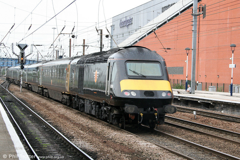 GC 43084 brings up the rear of the 1127 London King's Cross to Sunderland at Doncaster on 6th August 2009.