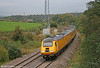 Released from Brush, Loughborough with an MTU power unit just two days previously, 43014 heads 1Z20, 0542 Old Oak Common to Swansea NMT past Llangewydd on 9th October 2009.