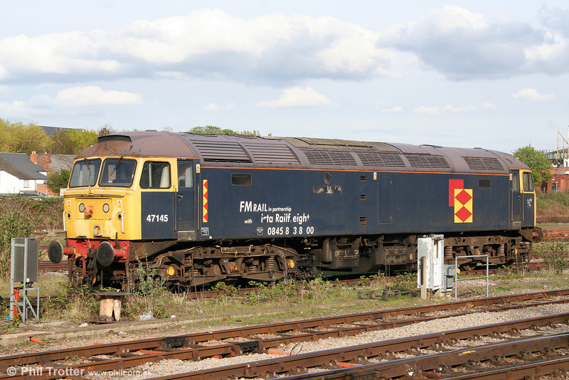 47145 and some reminders of previous UK operators at Gloucester on 11th April 2009.