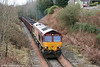 66086 heads through Neath Abbey with 6F76, 1013 Parc Slip to Onllwyn on 7th March 2009.