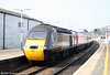 43321 is seen at the rear of the 1321 Plymouth to Edinburgh as it departs from Exeter St. Davids on 21st March 2009.
