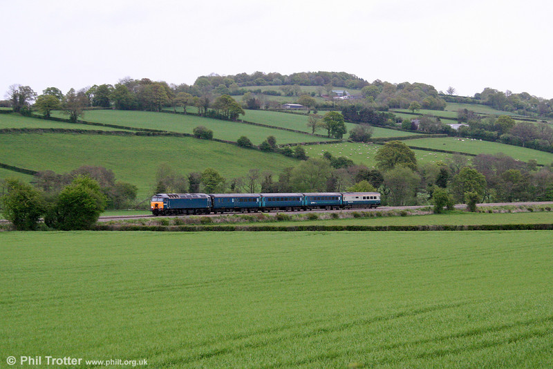 57313 near Pandy with ATW's 1V31, 0532 Holyhead to Cardiff Central on 4th May 2009.
