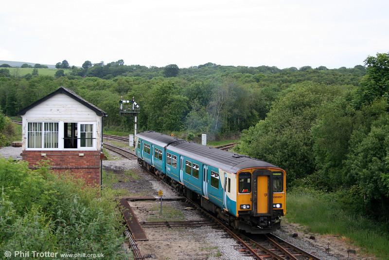 150257 at Tondu while working the 1715 Maesteg to Cheltenham Spa on 13th June 2009.