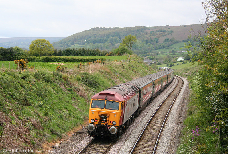 57311 'Parker' brings up the rear of Retro Railtours 1Z56, 0652 Huddersfield to Bath Spa, the 'Retro Avon Grid' as it passes Penyclawdd on 4th May 2009.