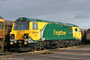 Freightliner's brand-new 3700hp GE 'PowerHaul' class 70 no. 70002 stabled at Stoke Gifford pending ORR approval and staff training on 15th November 2009.