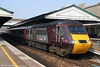 43357 emerges from the shadows at Exeter St. Davids leading the 0705 Edinburgh to Plymouth on 21st March 2009.