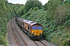 66114 again; this time at Morriston on 21st September 2009 with 6B20, 1835 Trostre to Margam.