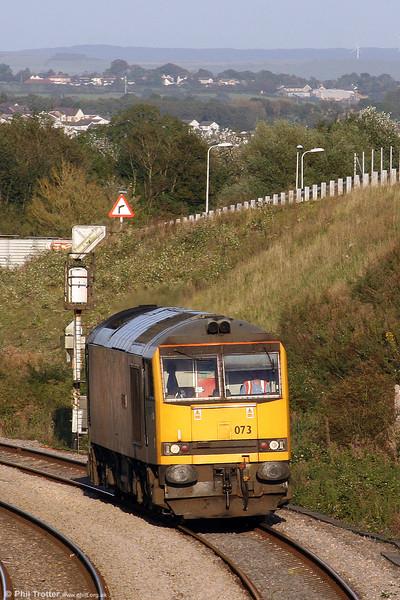 60073 'Cairn Gorm' approaches Llandeilo Junction, running as 0B07, 1754 Margam to Robeston on 9th September 2009.