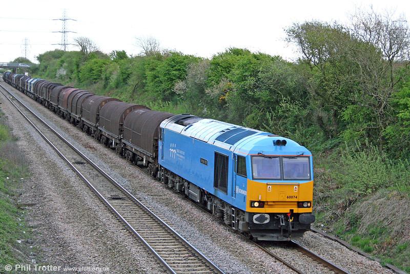 60074 'Teenage Spirit' has returned to service and is seen here at Stormy with what seems to be a very early 6H28, 2030 Llanwern to Margam on 25th April 2009.
