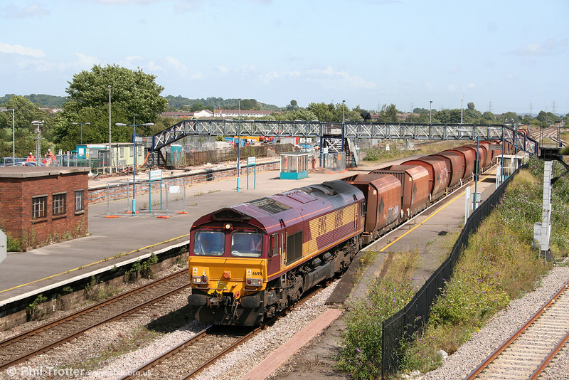 66192 passes through Severn Tunnel Junction with 6B35, 0924 Acton to Moreton-on-Lugg on 27th July 2009.